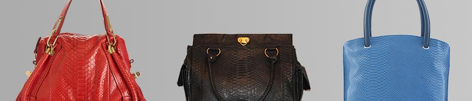 сумки из кожи питона