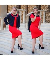 Костюм 85108             красный пиджак                     темно-синий пиджак                                                 Весна 2016                         Украина