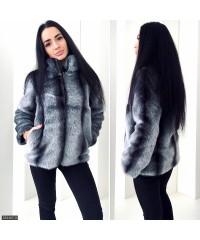 Шуба 333467-3             серый                                                                     Осень-Зима 2017                         Украина