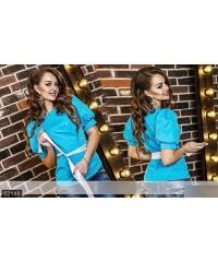 Блуза 52148             бордовый                     голубой                     персиковый                     черный                                                 Весна 2016                         Украина