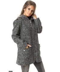 Пальто 333303-1             серый                                                 Осень-Зима 2017                                                 Украина