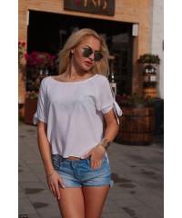 Блуза 52190             белый                     малиновый                     черный                                                 Весна 2016                         Украина