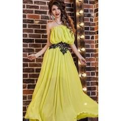 Платье 433999             голубой                     желтый                     электрик                                                                     Весна 2016                                                 Украина