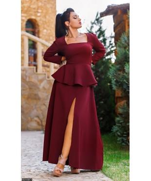 Платье 8511184-1             бордовый                                                 Осень- Зима 2016                         Украина