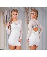 Платье 432688             белый                     черный                                                 Осень-Зима 2015                         Турция